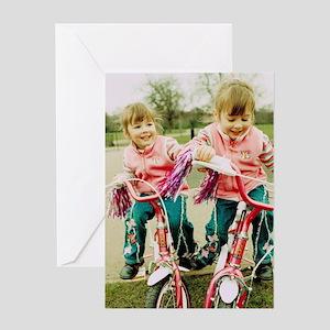 Identical twin girls Greeting Card