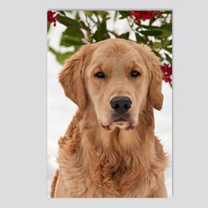 Christmas Golden Retrieve Postcards (Package of 8)