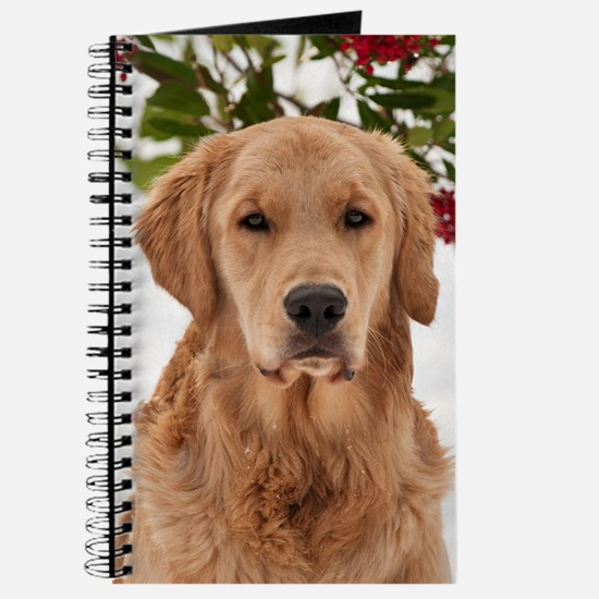Christmas Golden Retriever Journal