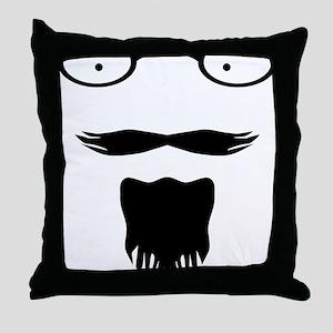 Rocker moustache mustache Throw Pillow