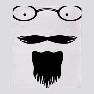 Rocker moustache mustache Throw Blanket