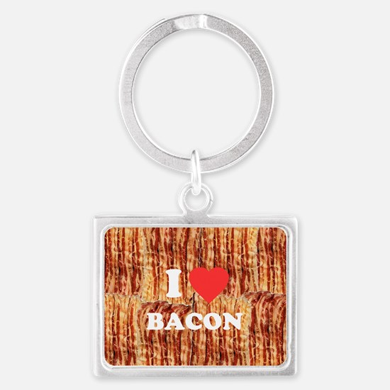 I love Bacon Landscape Keychain
