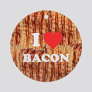I love Bacon Round Ornament