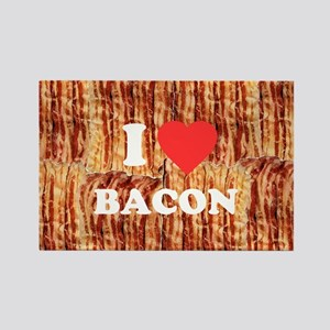 I love Bacon Rectangle Magnet