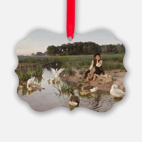 Daydreaming with the Geese Ornament