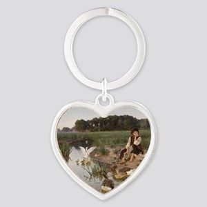 Daydreaming with the Geese Heart Keychain