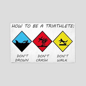 Triathlete 3'x5' Area Rug