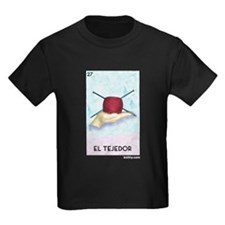 El Tejedor [for guy knitters] Kids Dark T-Shirt