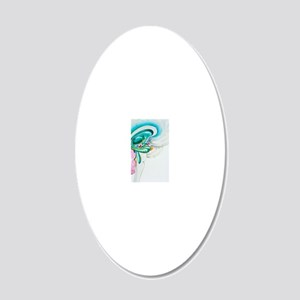 Illustration of the limbic s 20x12 Oval Wall Decal