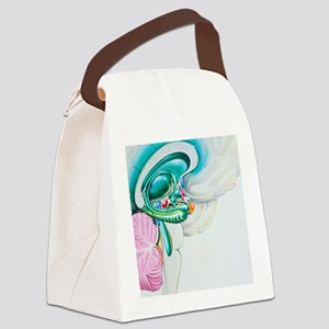 Illustration of the limbic system Canvas Lunch Bag