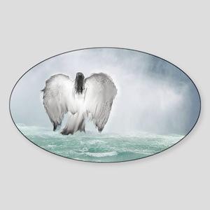 Angel walk Sticker (Oval)