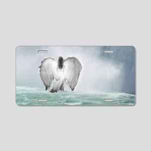 Angel walk Aluminum License Plate