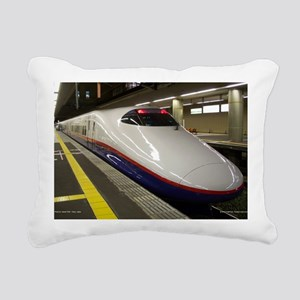 The Bullet Train Rectangular Canvas Pillow