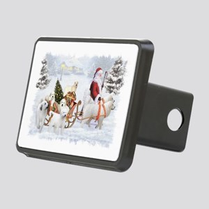 Great Pyrenees and Santa Rectangular Hitch Cover