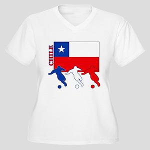 Soccer Chile Women's Plus Size V-Neck T-Shirt