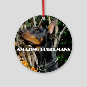 Doberman Cover image 2 Round Ornament