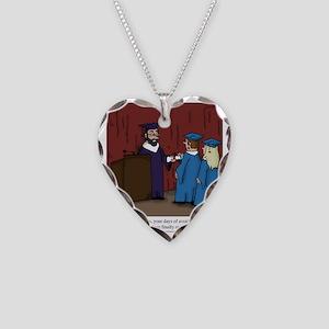 Avoiding Life Necklace Heart Charm