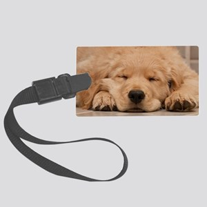 Golden Retriever Puppy Large Luggage Tag
