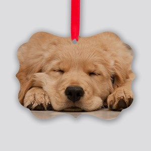 Golden Retriever Puppy Picture Ornament