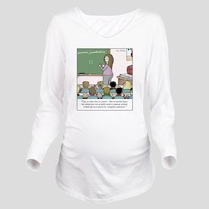 Using the Semicolon Long Sleeve Maternity T-Shirt