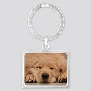 Golden Retriever Puppy Landscape Keychain