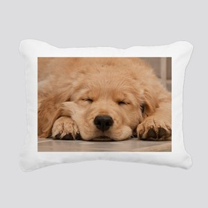 Golden Retriever Puppy Rectangular Canvas Pillow