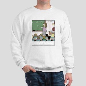 Using the Semicolon Sweatshirt