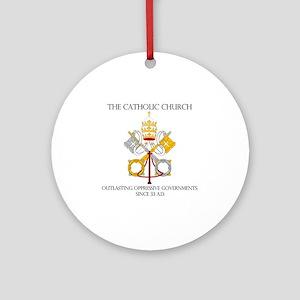 The Catholic Church Round Ornament