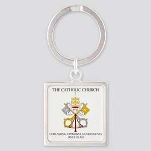 The Catholic Church Square Keychain