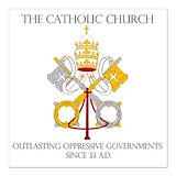 Catholic Square Car Magnets