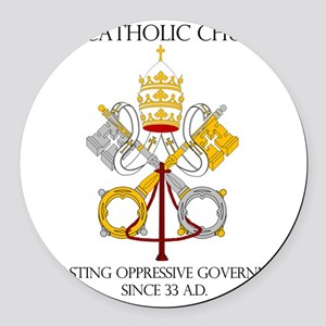 The Catholic Church Round Car Magnet