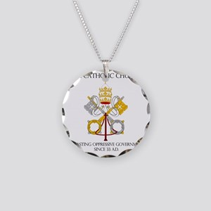 The Catholic Church Necklace Circle Charm