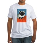 Siamese Kitten by Elsie Fitted T-Shirt