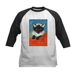 Siamese Kitten by Elsie Kids Baseball Jersey