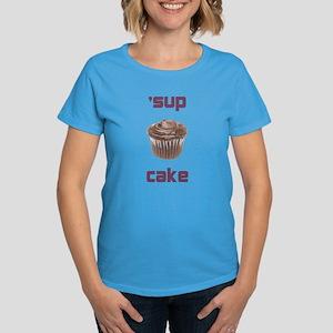 'sup cake women's dark t-shirt
