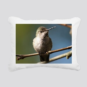 Annas Hummingbird Rectangular Canvas Pillow