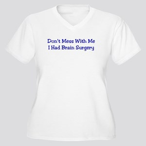 Don't Mess... Women's Plus Size V-Neck T-Shirt