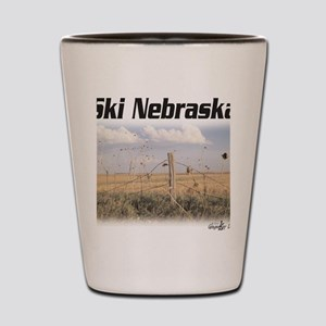 Ski Nebraska Shot Glass