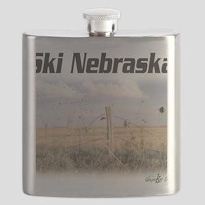 Ski Nebraska Flask