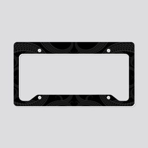 Black Goth Valentines Fractal License Plate Holder