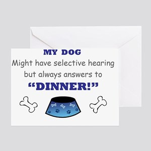 My Dog Answers to Dinner Greeting Card