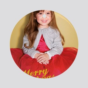 Bianca Christmas Card 2 Round Ornament