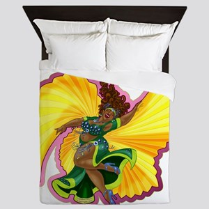 Big-n-Beautiful Winged Belly Dancer Queen Duvet