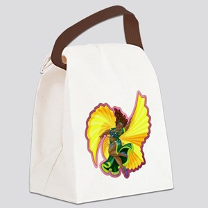 Big-n-Beautiful Winged Belly Danc Canvas Lunch Bag