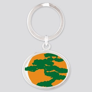 Bonsai Tree Oval Keychain
