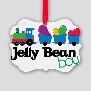 Jelly Bean Boy Picture Ornament