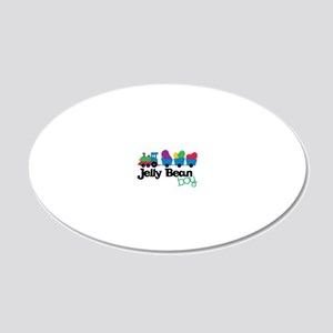 Jelly Bean Boy 20x12 Oval Wall Decal
