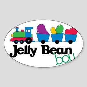 Jelly Bean Boy Sticker (Oval)