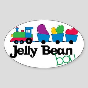 Jelly Bean Boy Sticker (Oval)