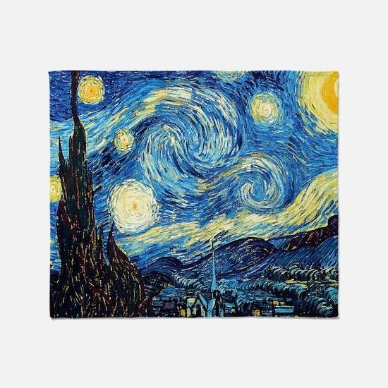 Starry Night Throw Blanket